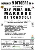 """Domenica 9 ottobre """"XXV Fiera del Marrone di Scascoli"""""""