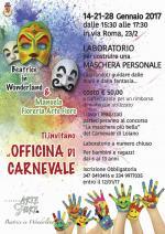 """A gennaio tre appuntamenti con """"L'Officina di Carnevale"""". Laboratorio  per realizzare una maschera di Carnevale"""