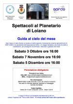 Gli spettacoli al Planetario da ottobre a dicembre