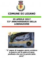 """25 aprile 2017 -  """"72° Anniversario della Liberazione"""""""