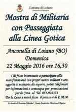 Domenica 22 maggio 'Mostra Militaria con Passeggiata alla Linea Gotica'