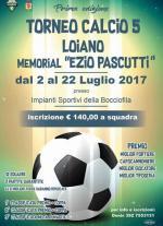 """Dal 2 al 22 luglio Torneo di Calcio 5 Memorial """"Ezio Pascutti"""""""