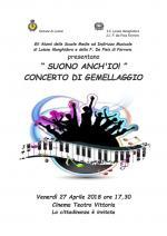 """Venerdì 27 aprile """"Suono anch'io"""", concerto di gemellaggio tra gli Alunni delle Scuole Medie ad Indirizzo Musicale di Loiano Monghidoro e della F. De Pisis di Ferrara"""