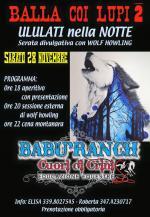 """Sabato 28 novembre """"Balla coi lupi 2- ululati nella notte"""" tra i boschi di Gragnano"""
