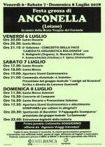 """Venerdì 6, sabato 7 e domenica 8 luglio la 'Festa Grossa di Anconella"""""""