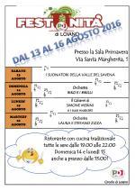 Dal 13 al 16 agosto, Festa dell'Unità a Loiano