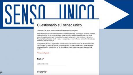 Senso unico in via Roma, l'Amministrazione pubblica il questionario