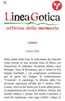 'Linea Gotica', una app per scoprire luoghi e itinerari della memoria dall'Adriatico al Tirreno