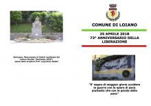 Mercoledì 25 aprile  '73° Anniversario della Liberazione'
