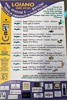"""Da lunedì 2 luglio """"Vino, spizzichi e...bocconi"""" in Piazza Dall'Olio a Loiano"""