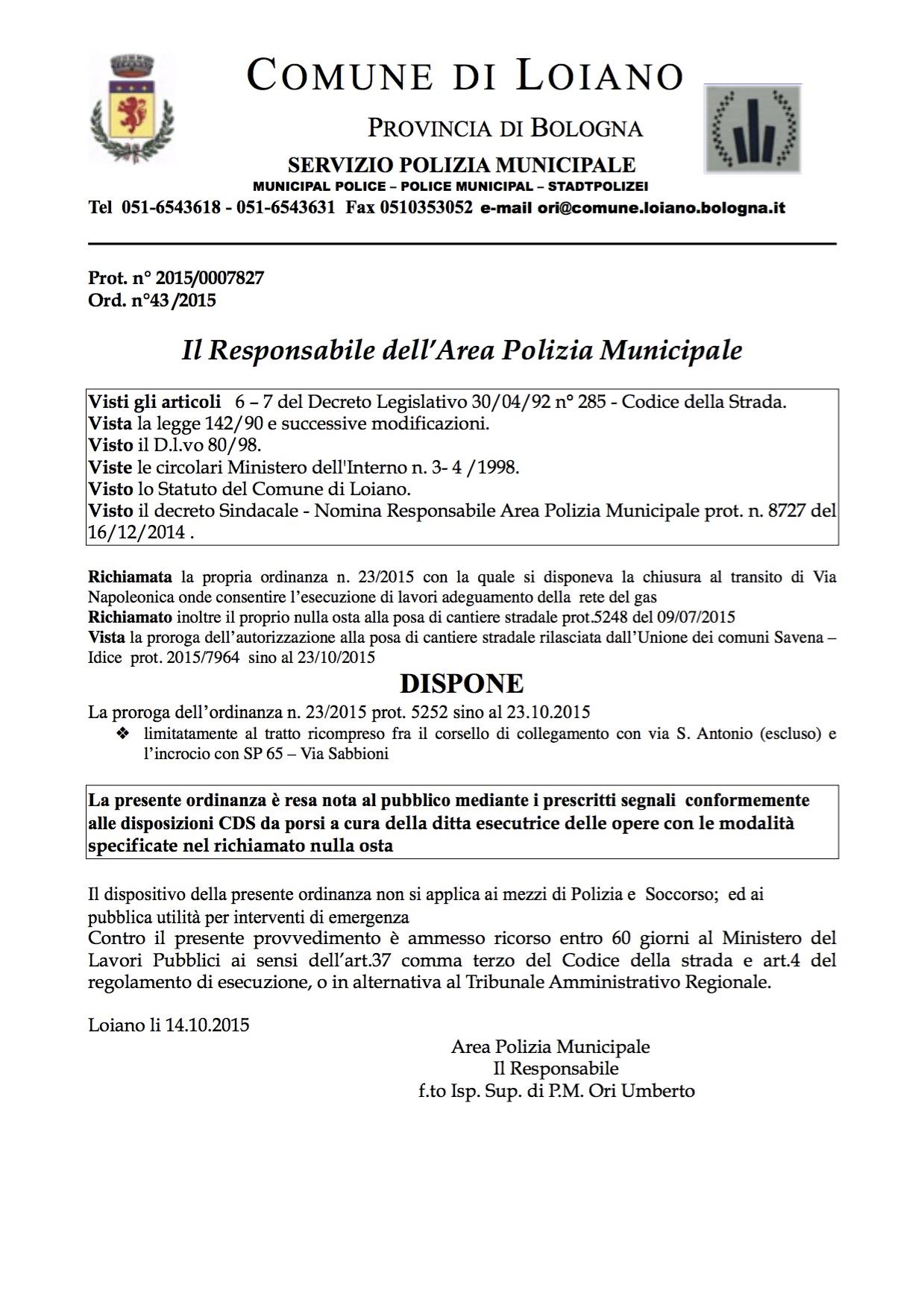 polizia municipale bologna orari via ferrari - photo#37